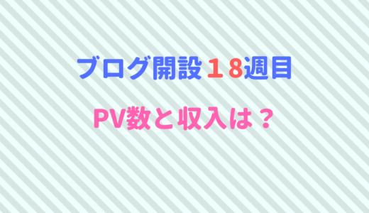 ブログ開設18週目のPV数・収入