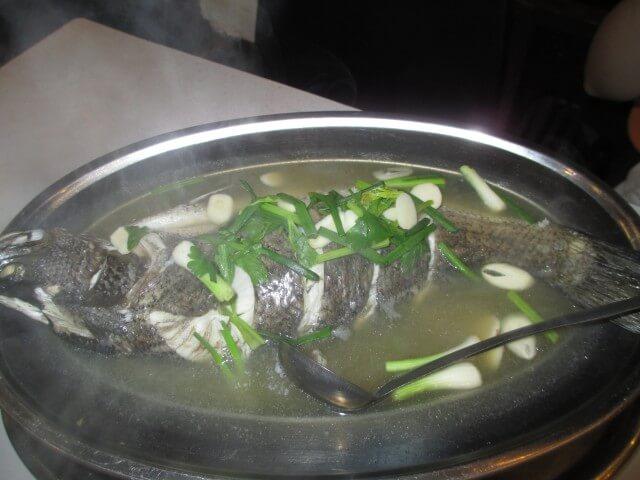チャン島の夕食①